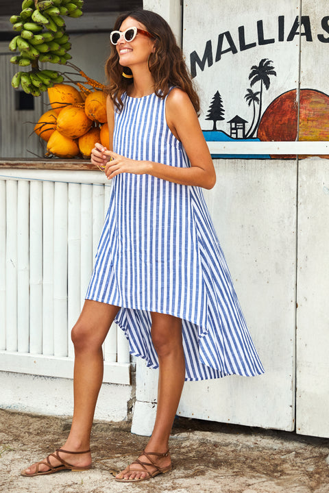 Mia Dress In Blue Stripe