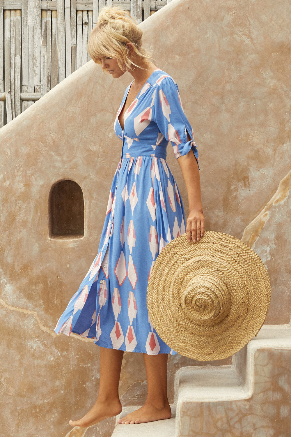 Saskia Dress In Blue Sky