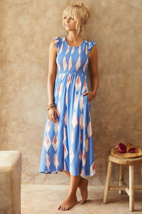 Abbie Dress In Blue Sky