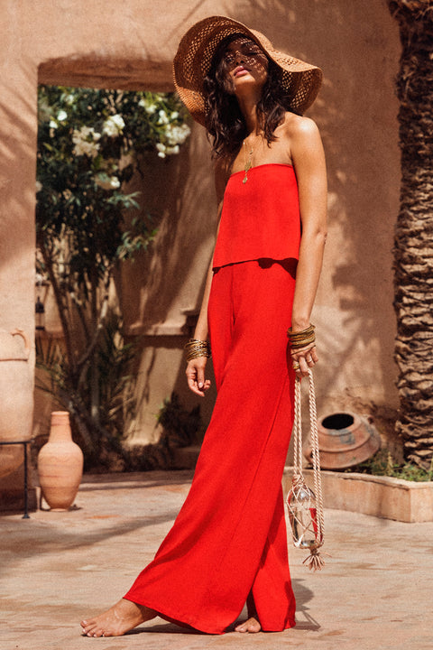 Arlo Jumpsuit In Red