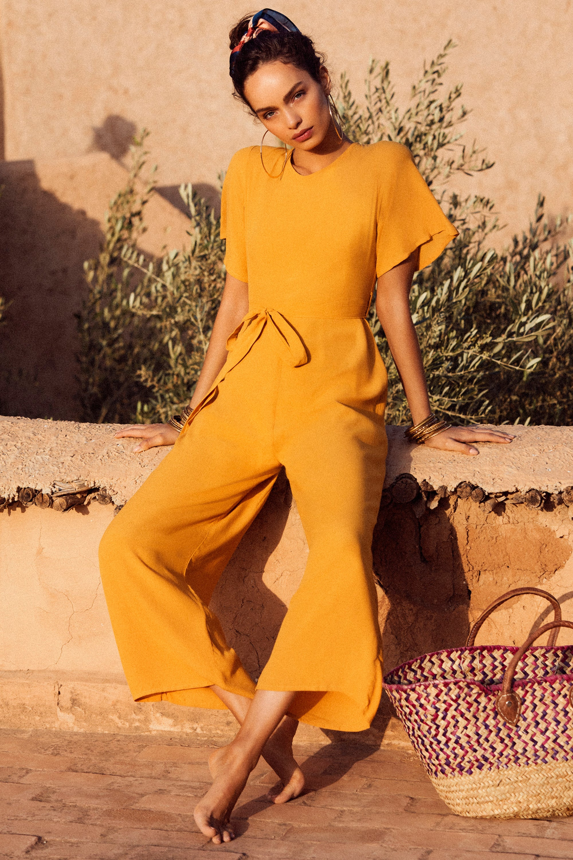 Nina Jumpsuit In Mustard