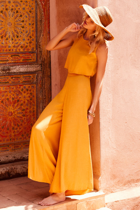 Charlie Jumpsuit In Mustard