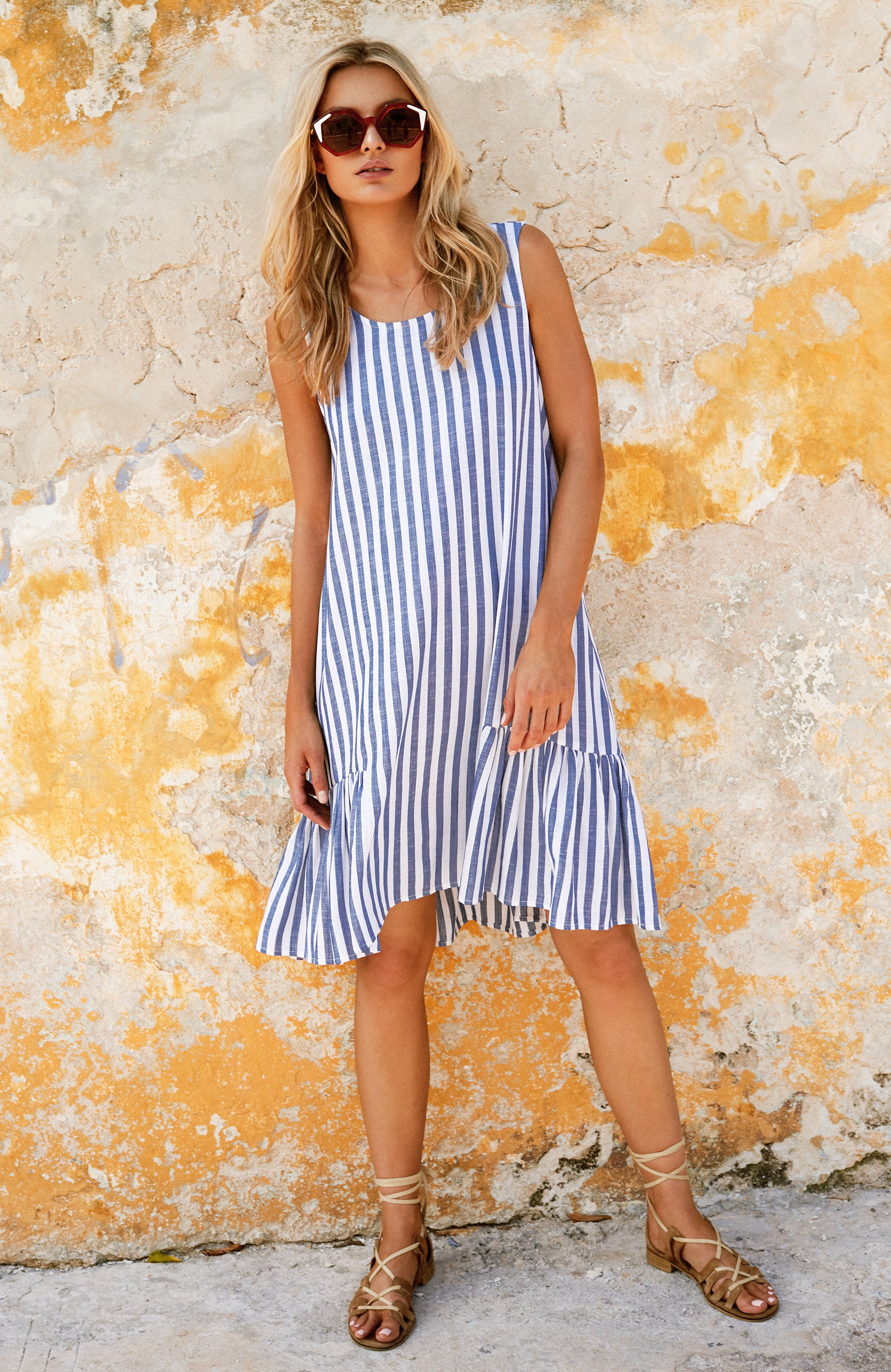 Harriet Dress In Stripe