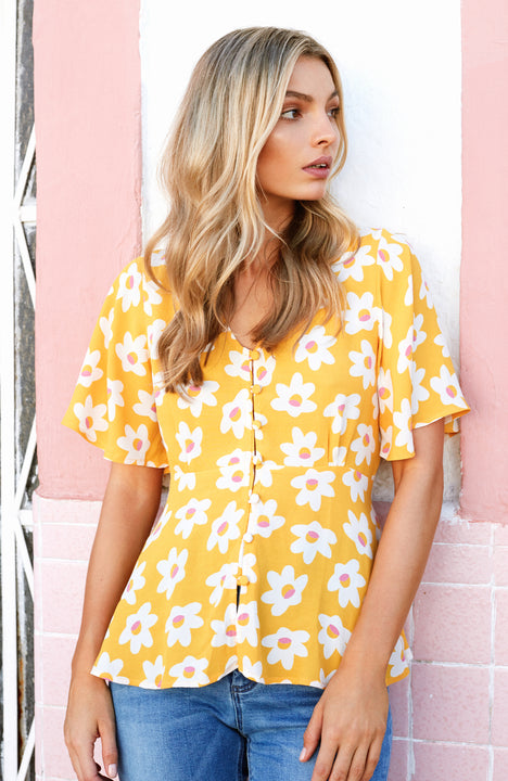 Birdie Top In Daisy