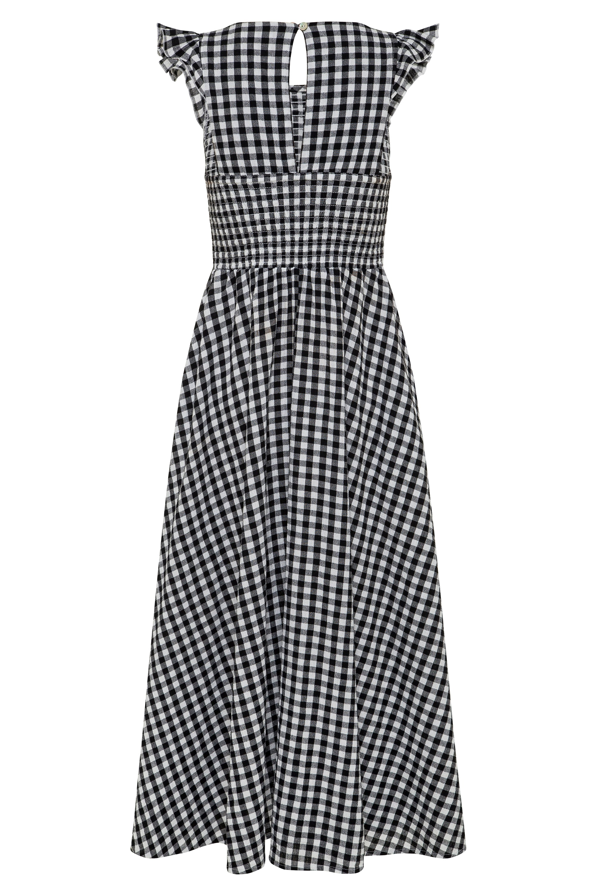 Abbie Dress In Black Gingham