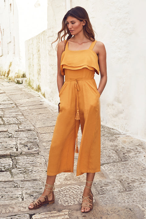 Gracie Jumpsuit In Mustard