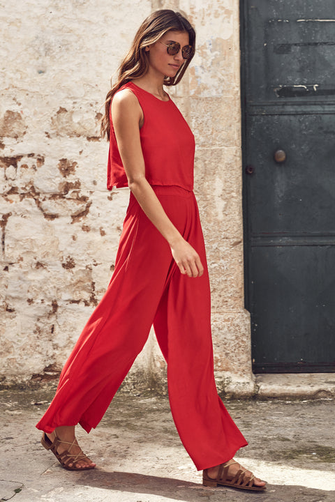 Charlie Jumpsuit In Red
