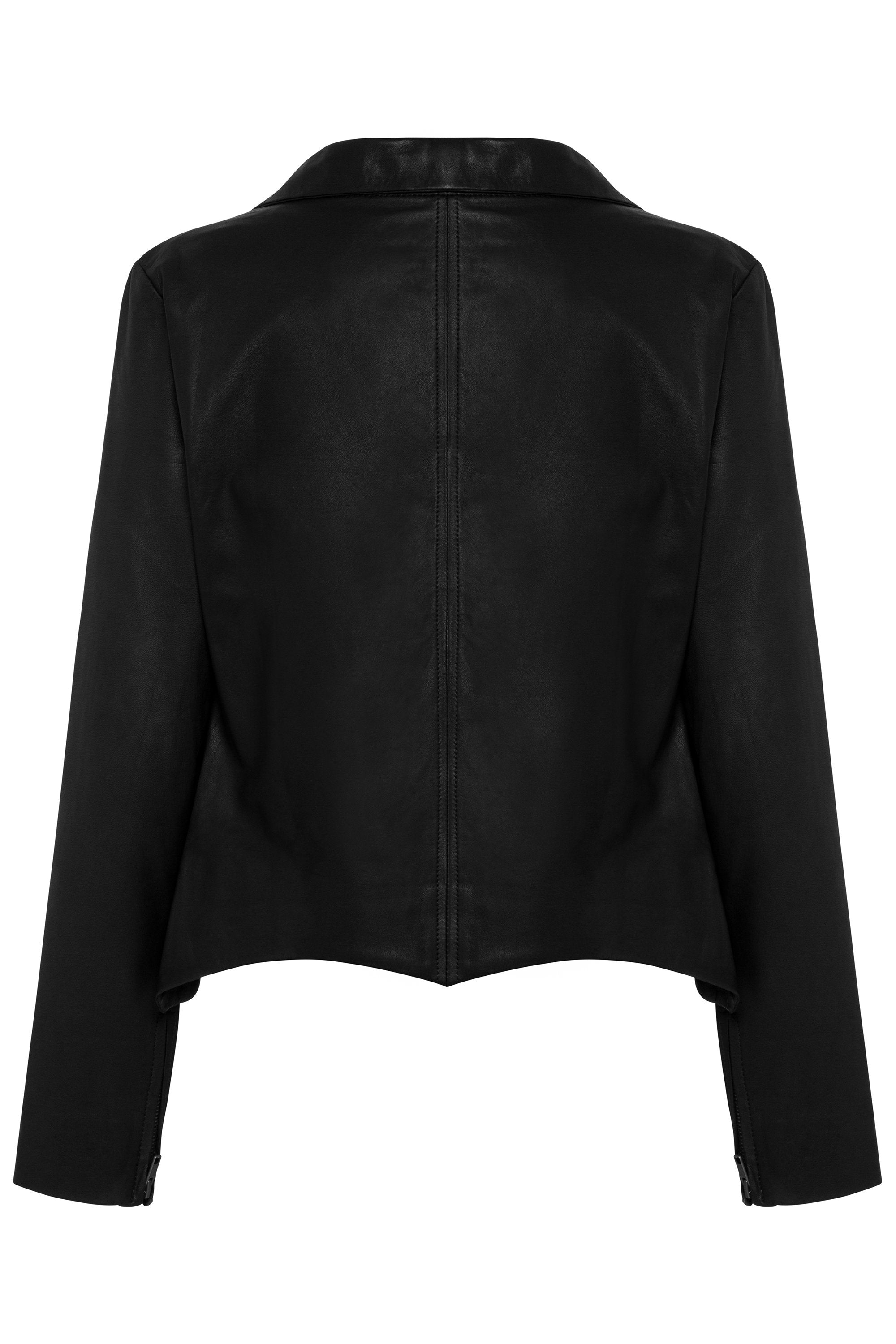 Zipper Jacket In Black Leather