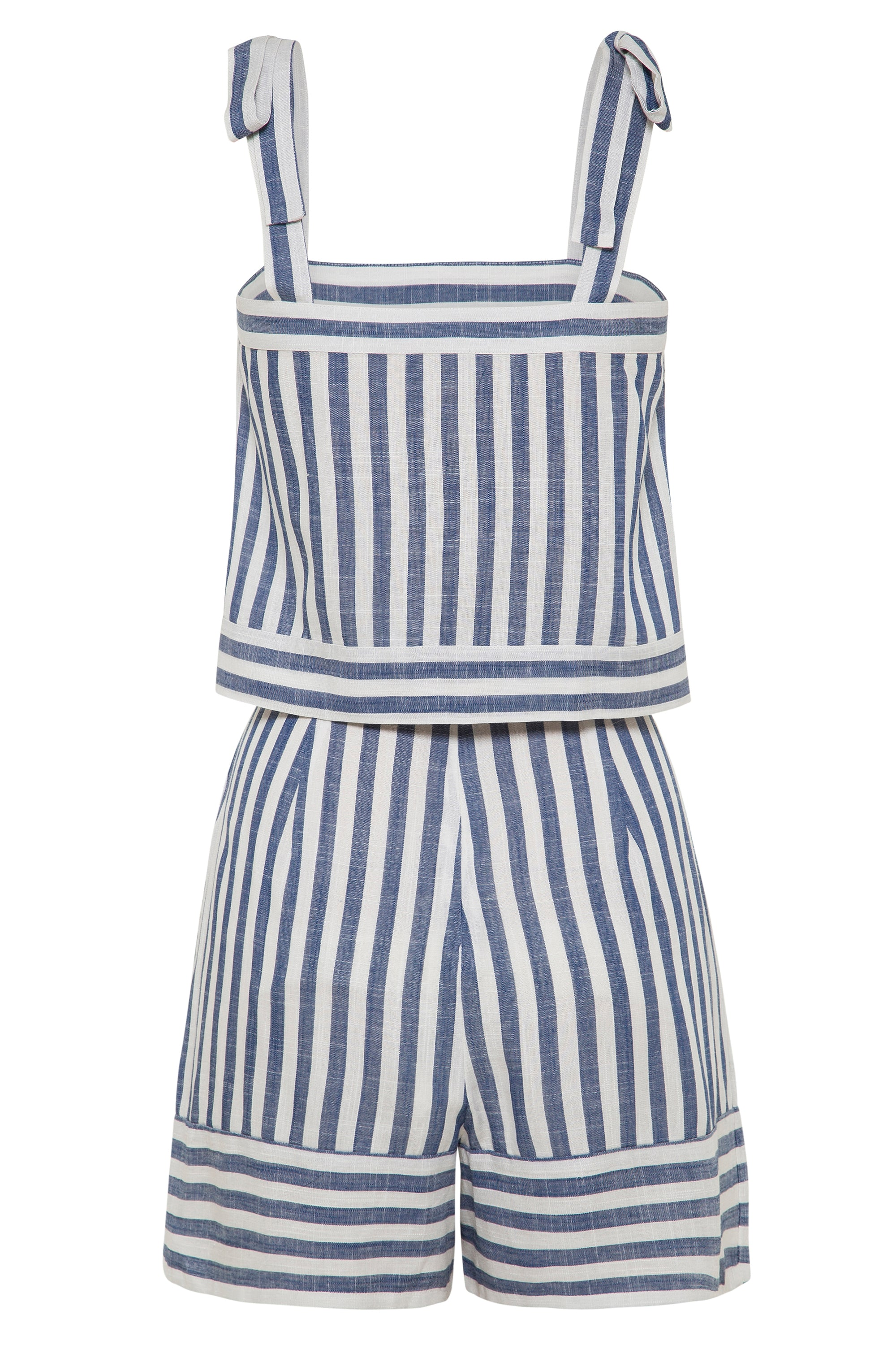 Dixie Playsuit In Blue Stripe