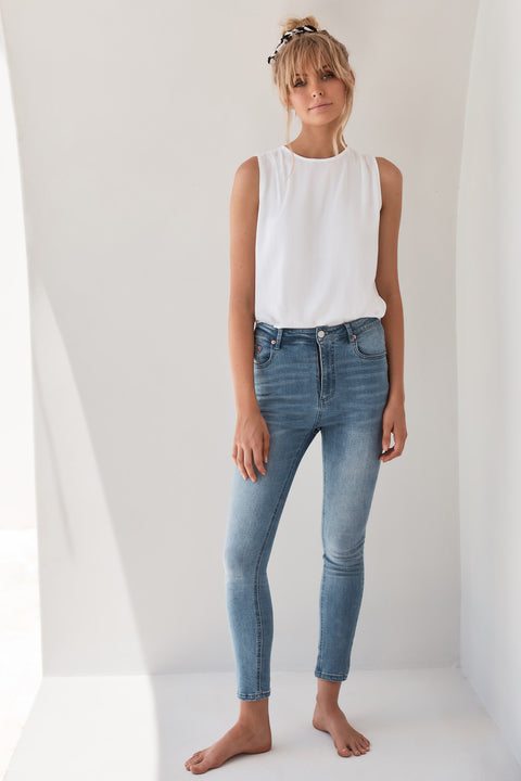 Georgia Jeans In Dark Denim