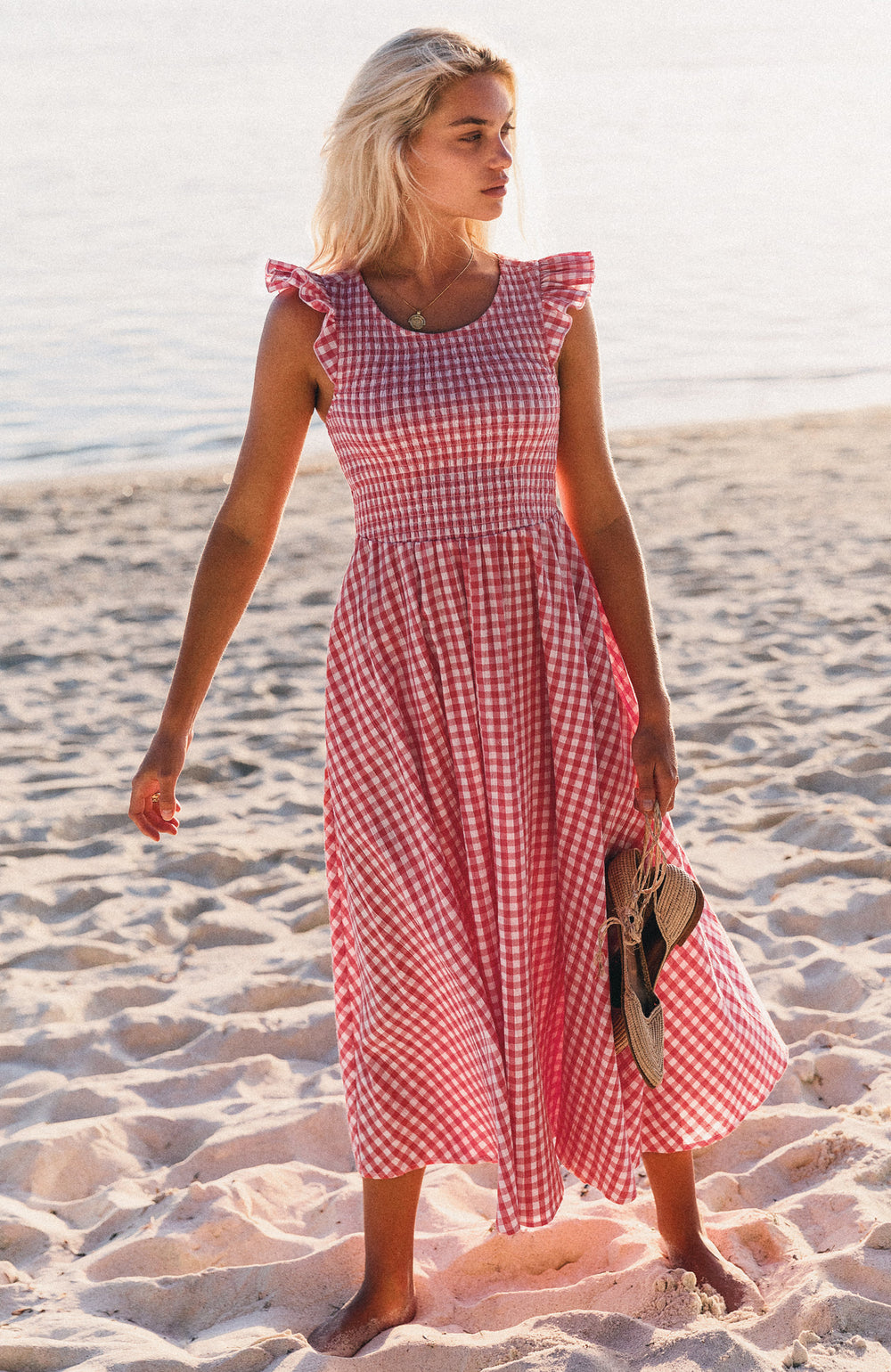 Abbie Dress In Pink Gingham
