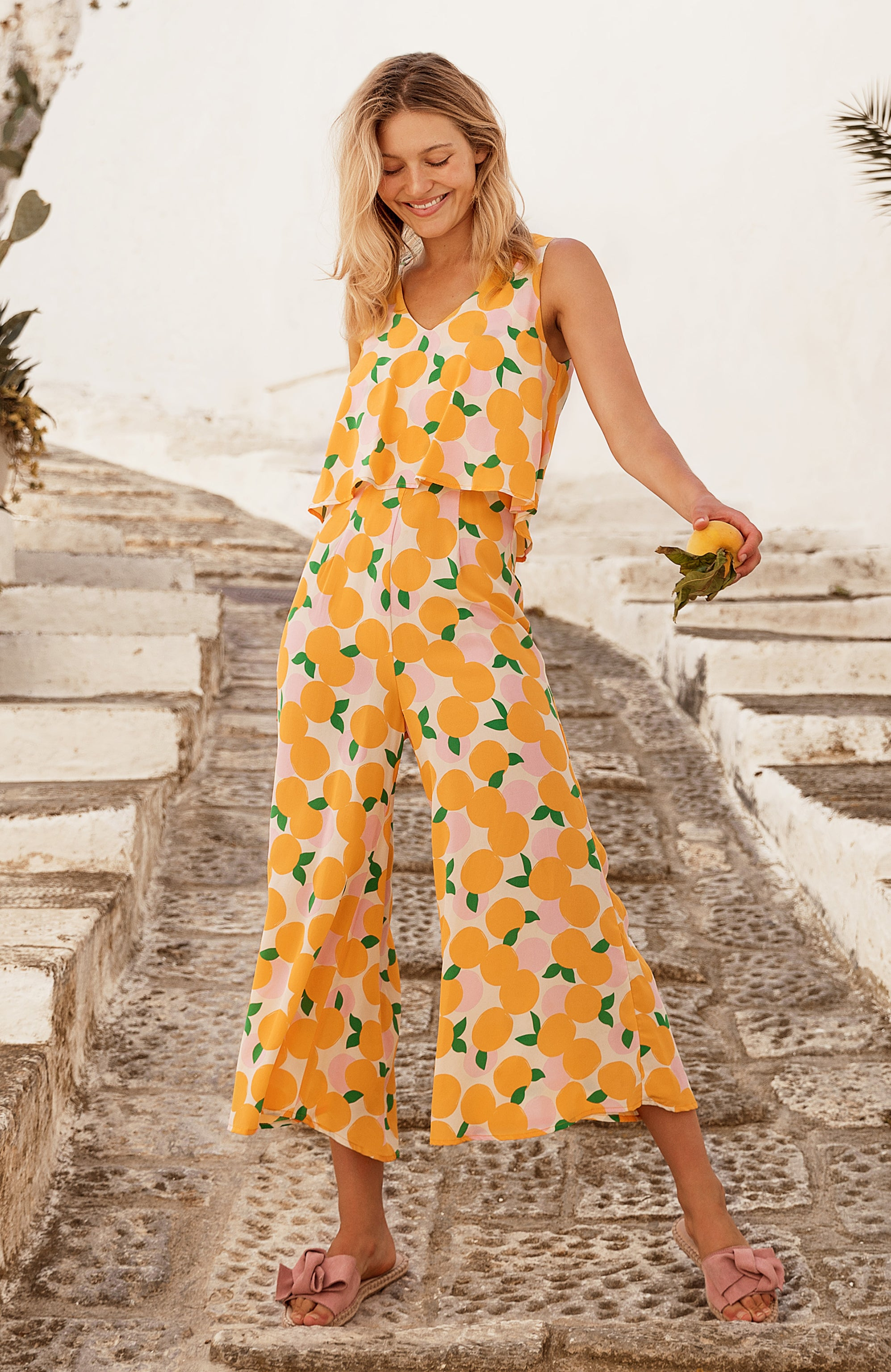 Clover Jumpsuit In Mandarin