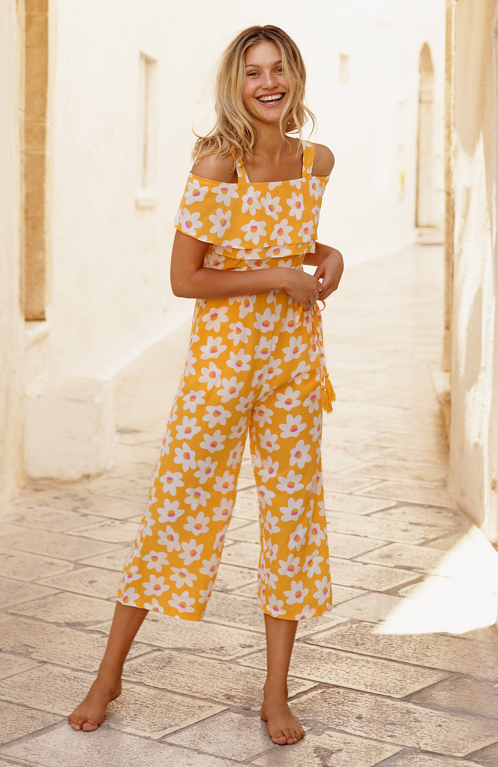 Gracie Jumpsuit In Daisy