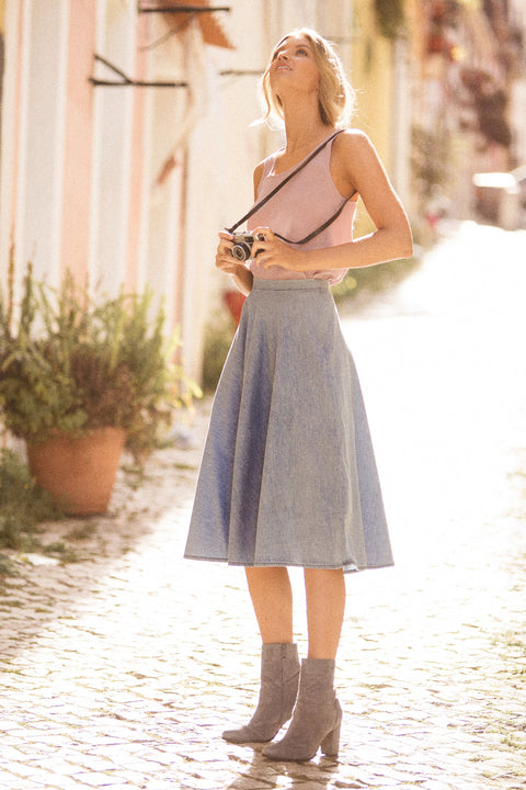 Monday Skirt In Chambray
