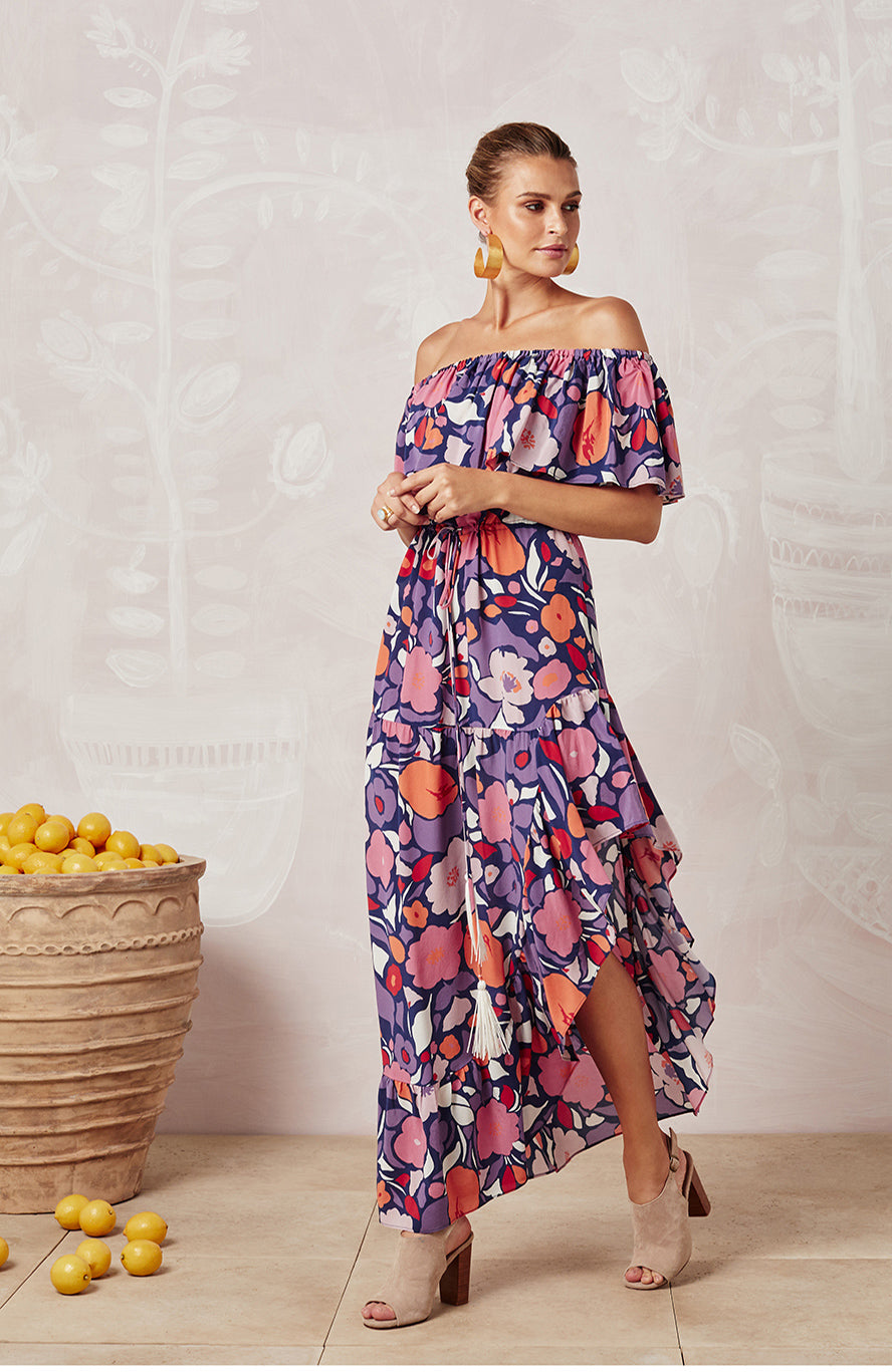 PASSIONFLOWER SILK LUCY DRESS - DRESSES - Mister Zimi