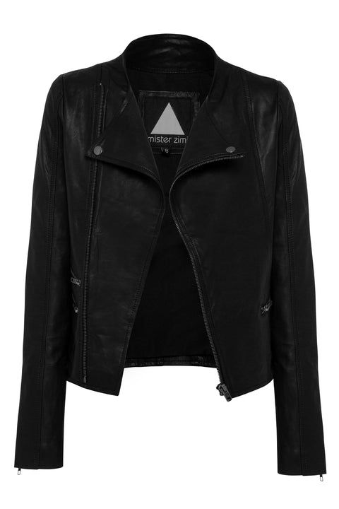 Luna Jacket In Black Leather