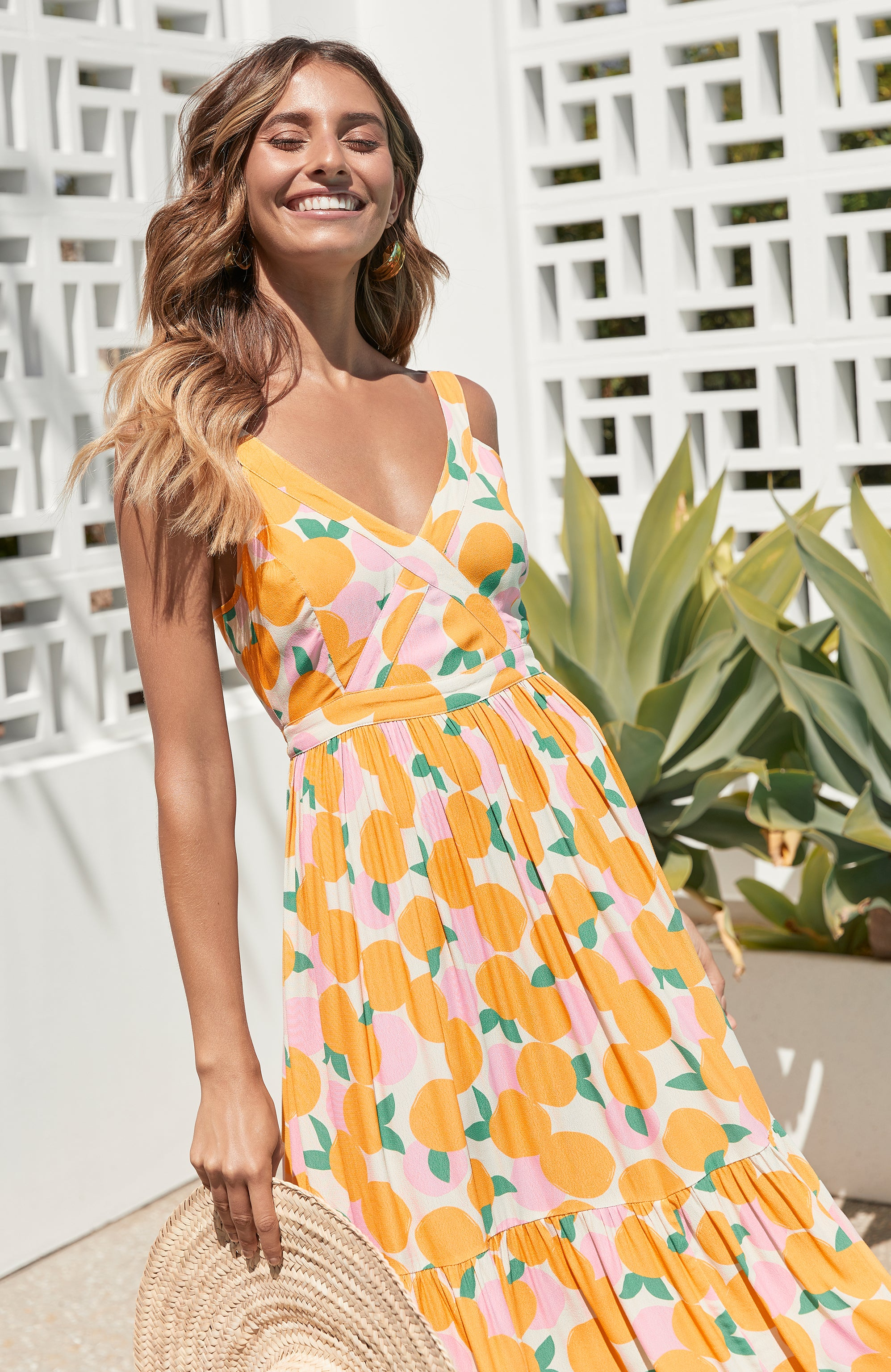 Daphne Dress In Mandarin