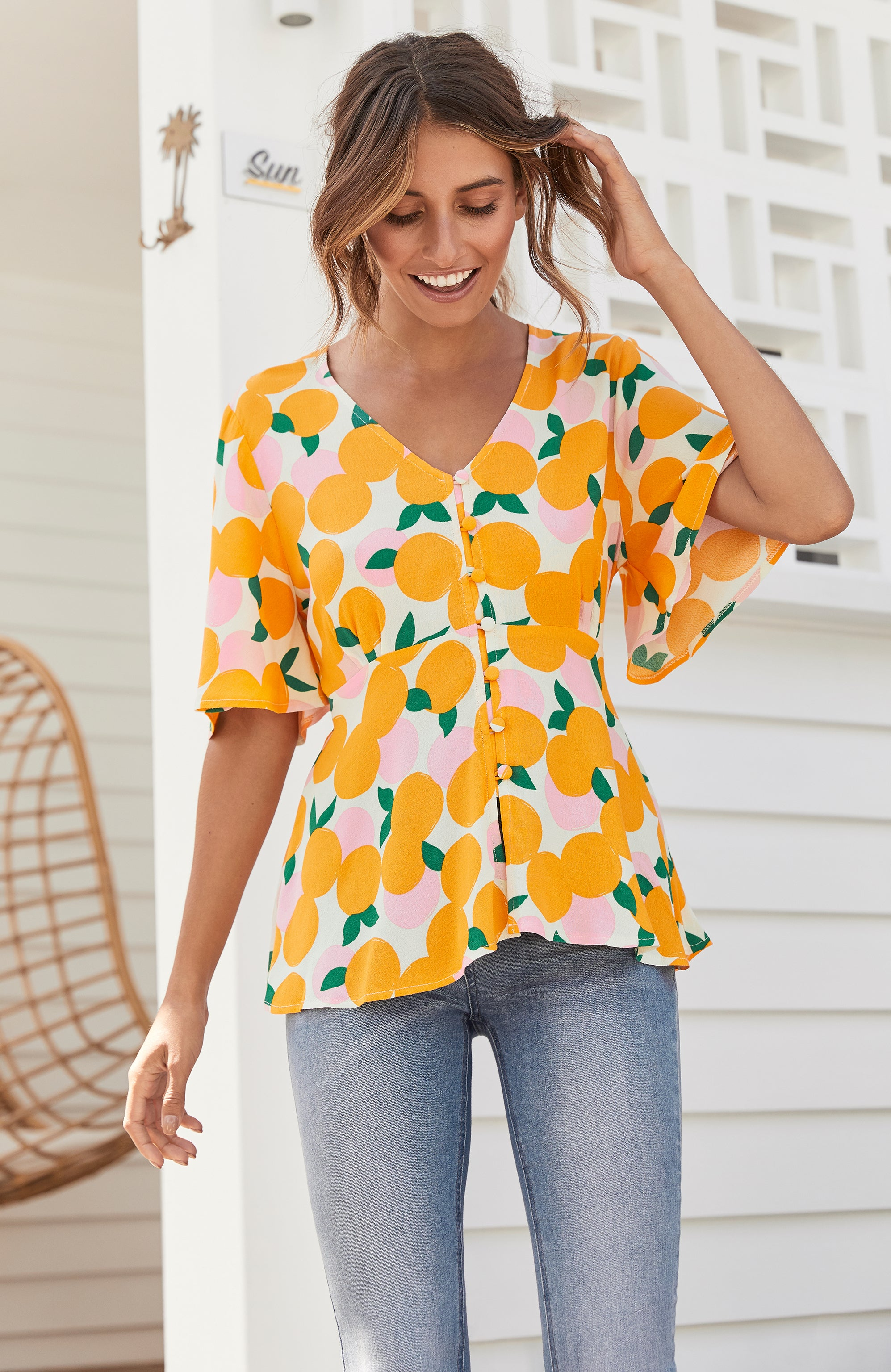 Birdie Top In Mandarin
