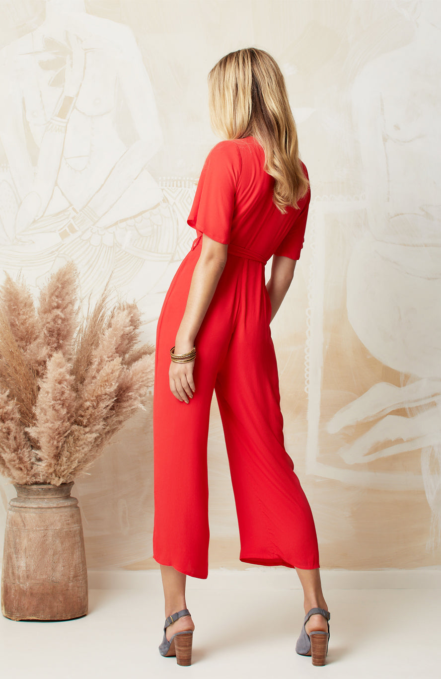 RED NINA JUMPSUIT