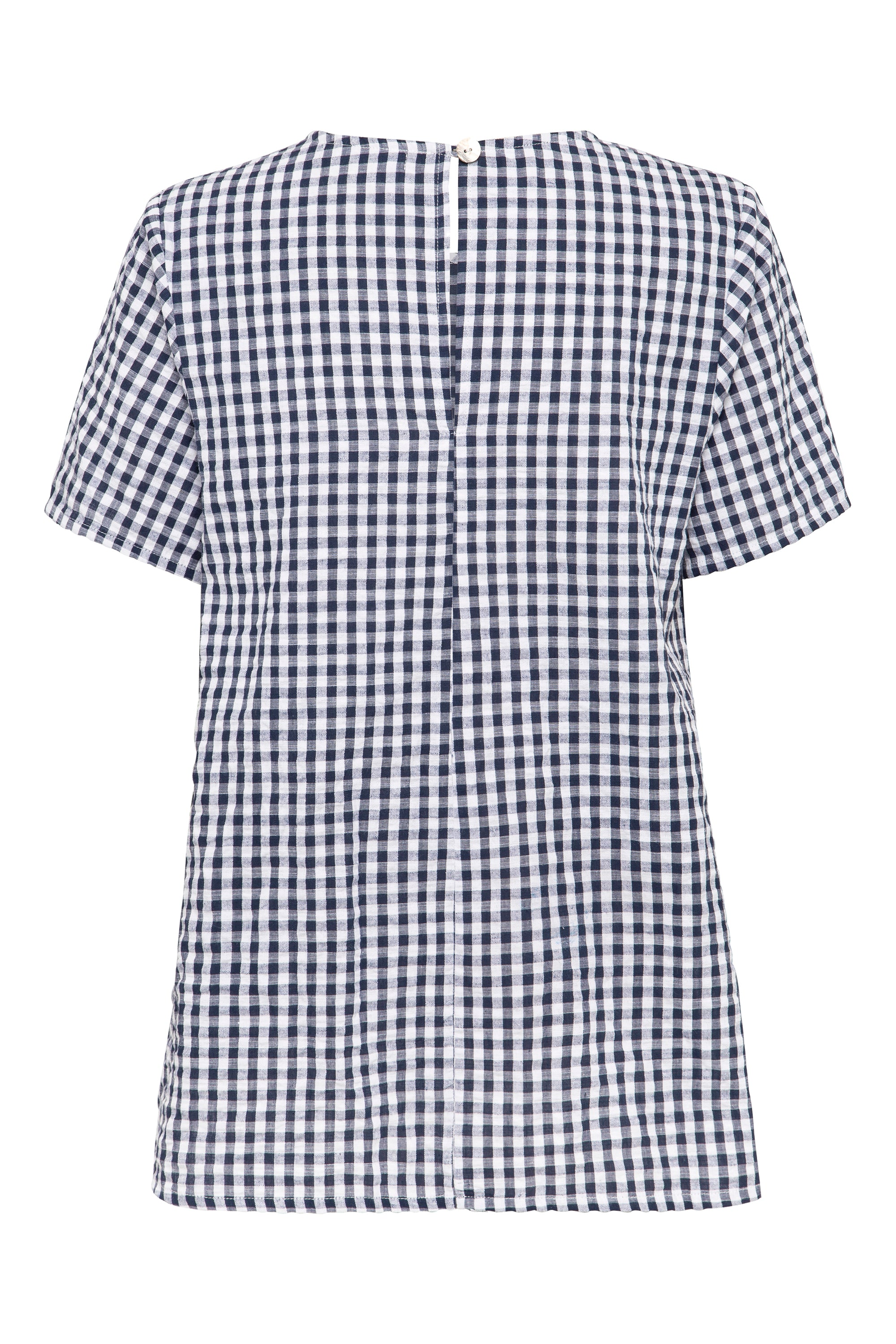 Daisy Top In Navy Gingham