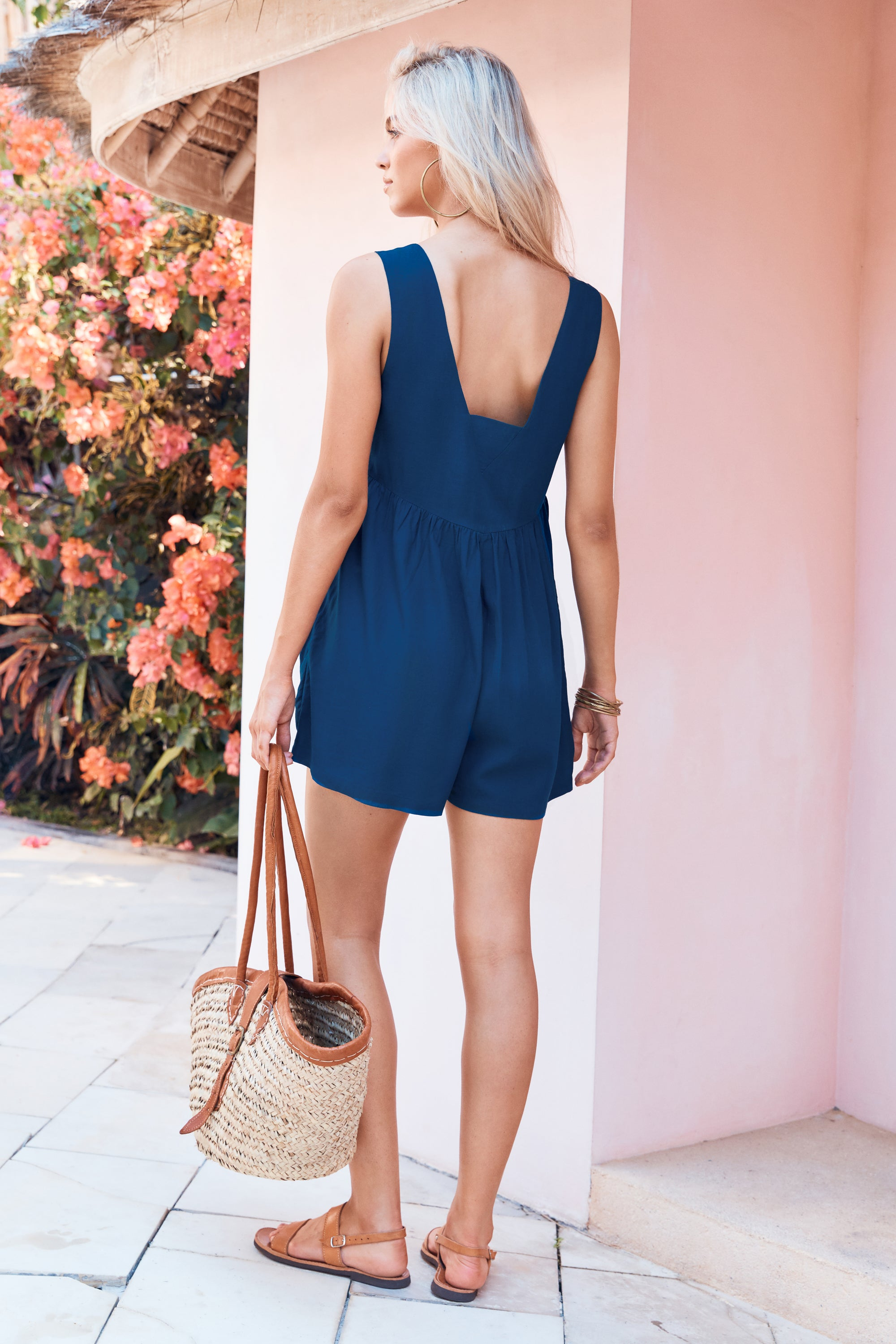 Libby Playsuit In Marine