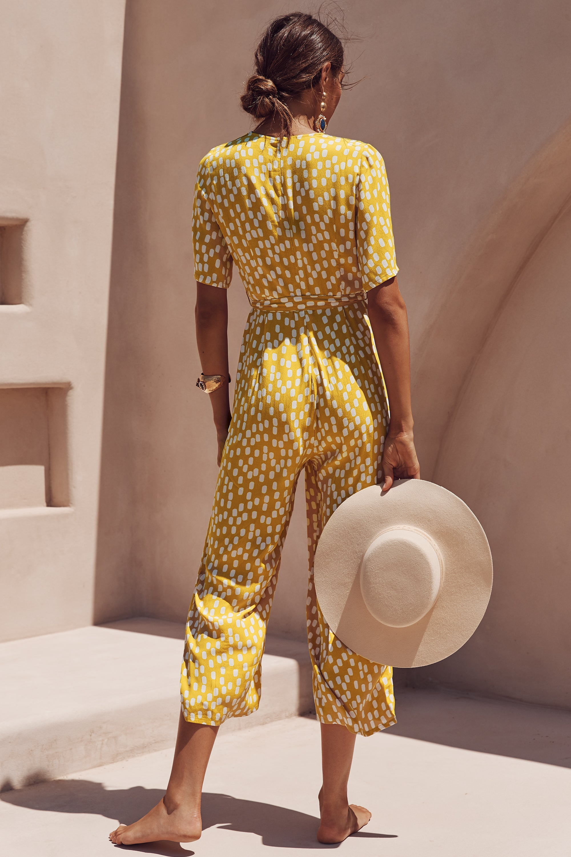 Effie Jumpsuit In Chartreuse