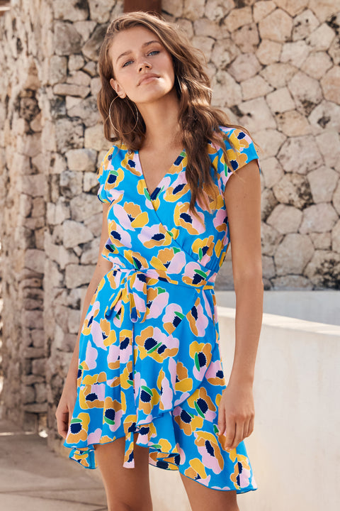 Summer Colette Dress In Pina Colada