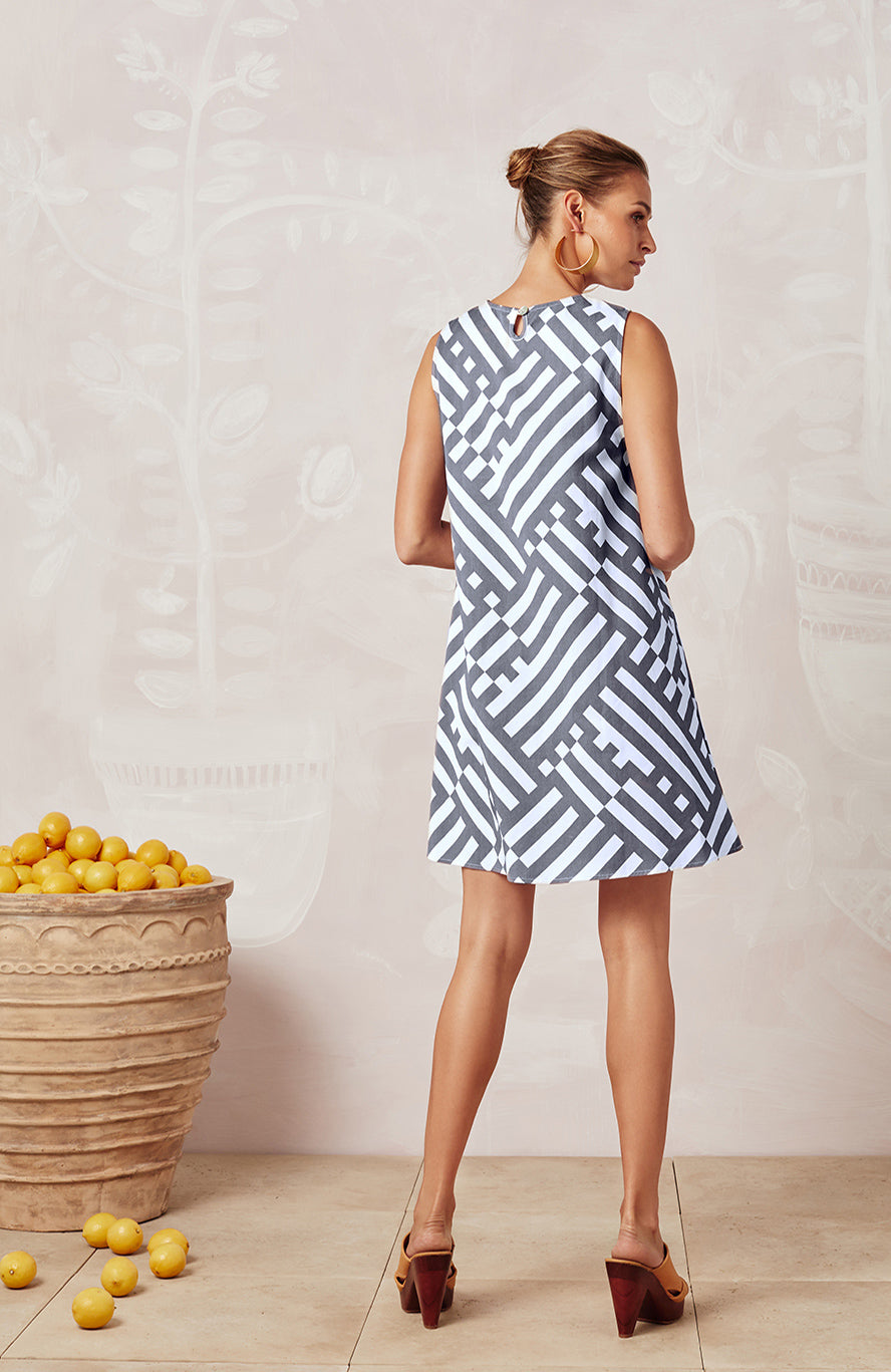 SUMMER GEO SLEEVELESS TINA DRESS - DRESSES - Mister Zimi