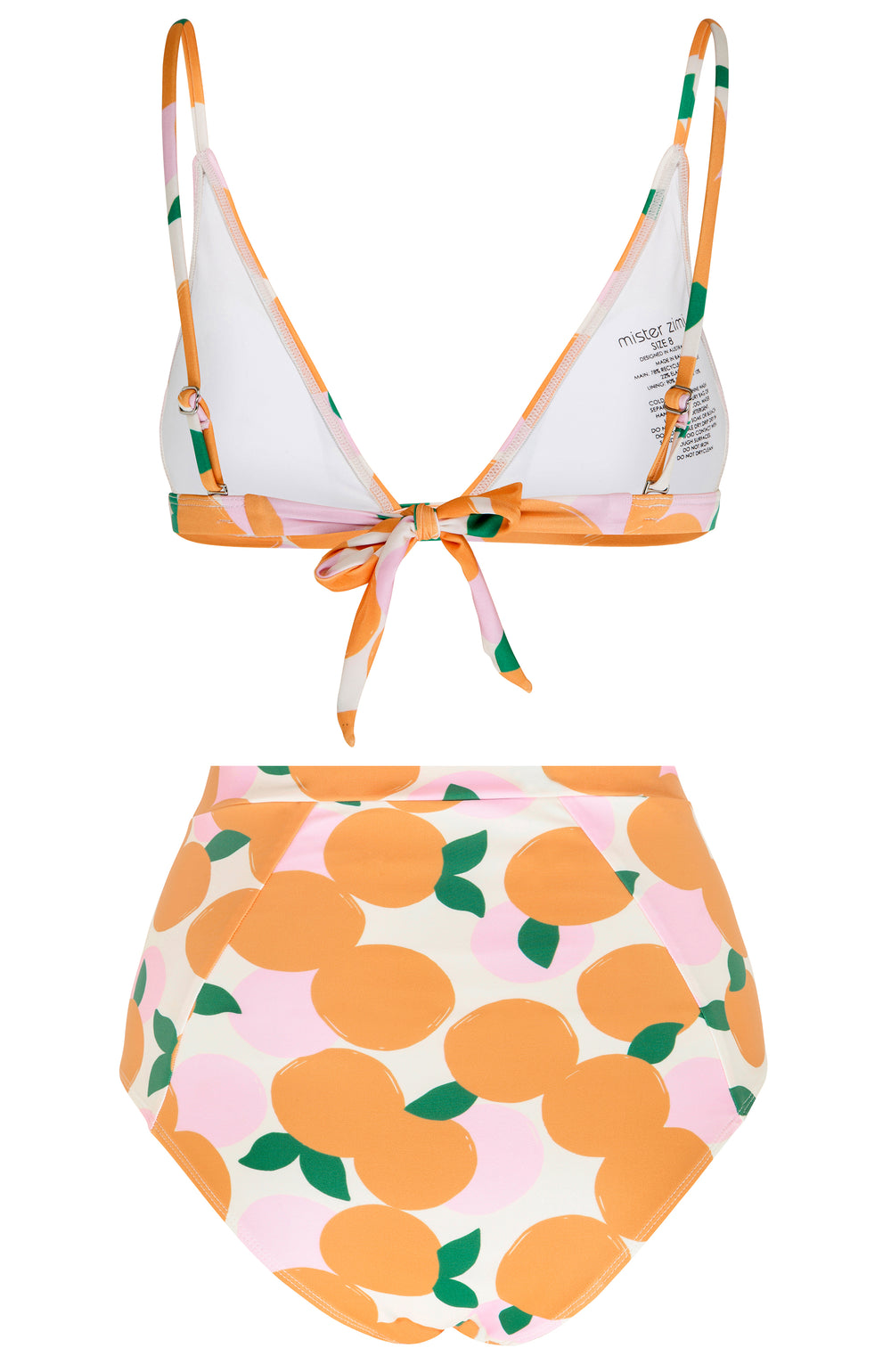 Petal High Waisted Set In Mandarin