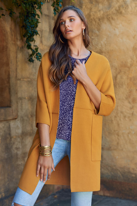 Tildy Jacket In Mustard