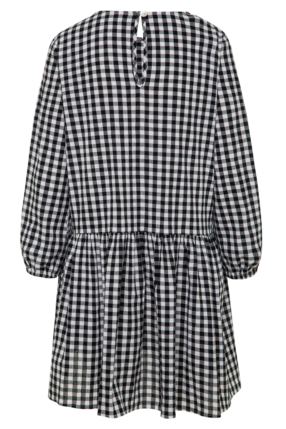 Elsa Dress In Black Gingham