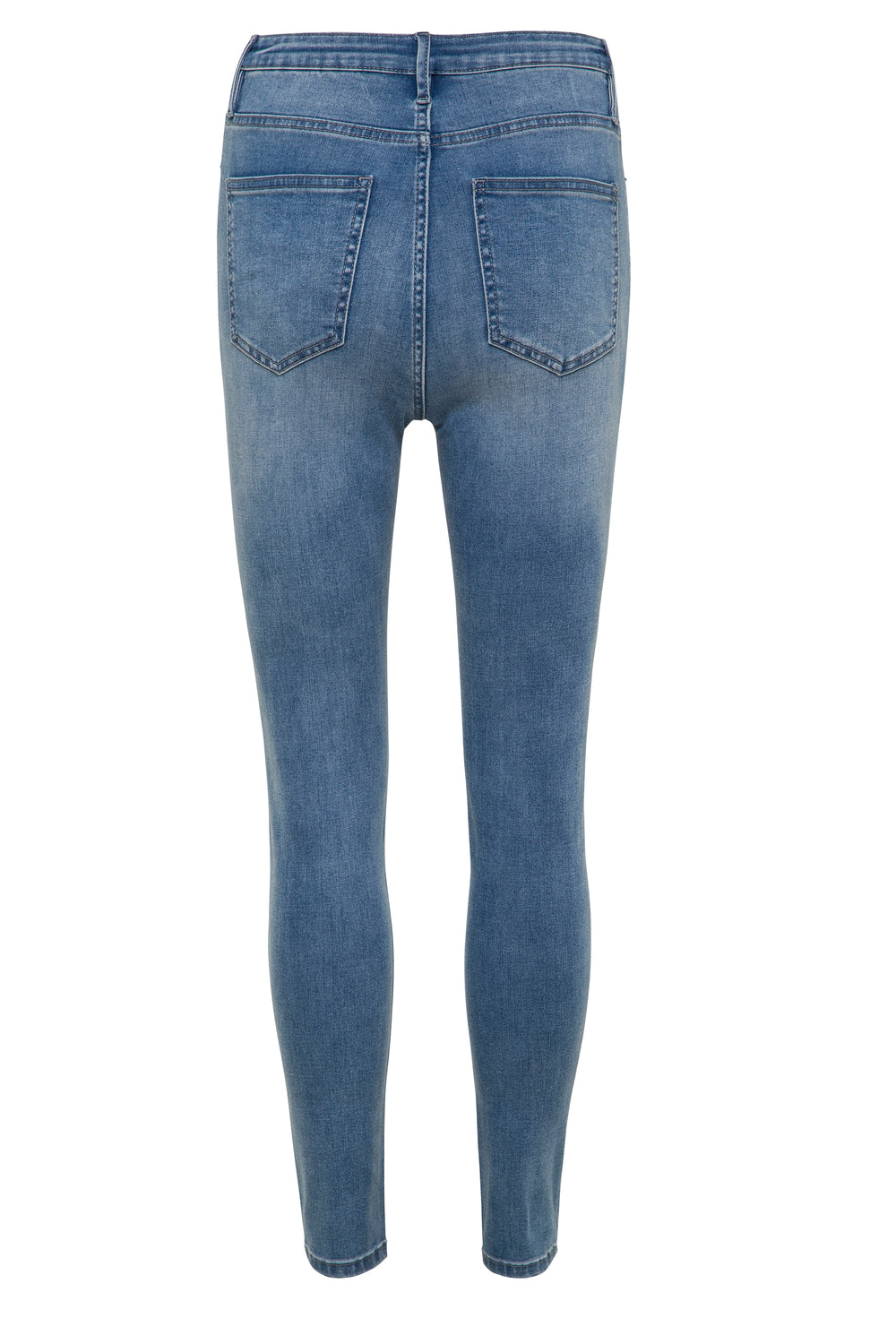 Georgia Jeans In Soft Blue Denim