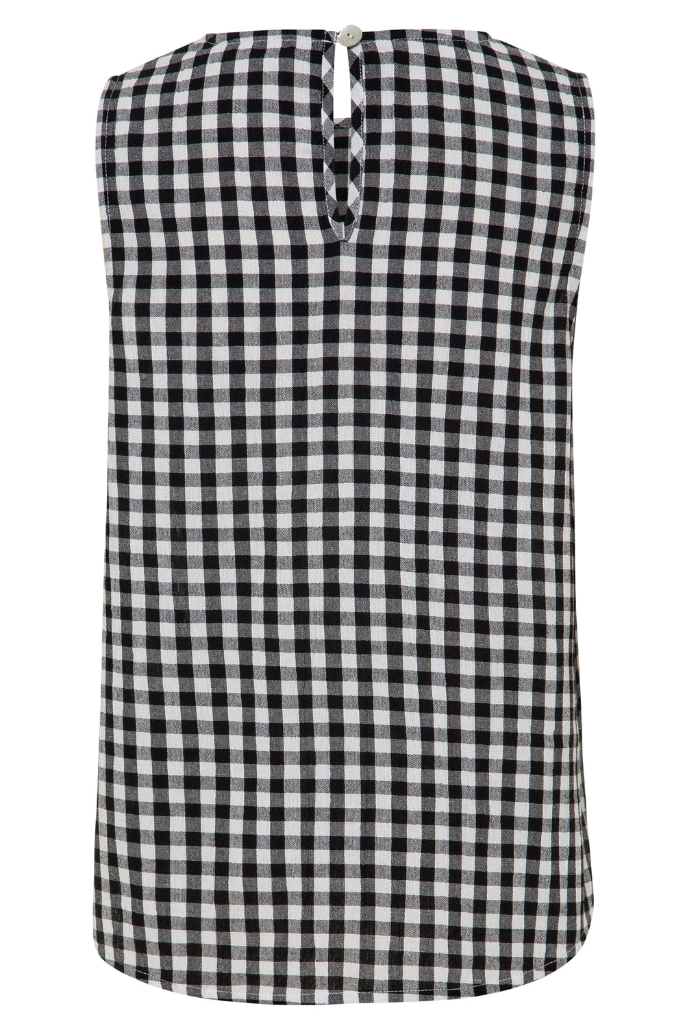 Lottie Top In Black Gingham