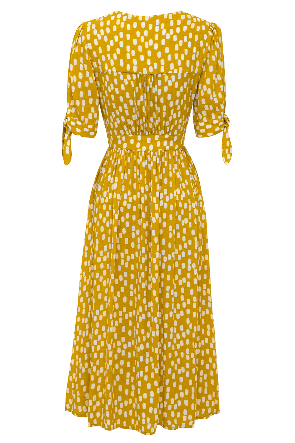 Saskia Dress In Chartreuse