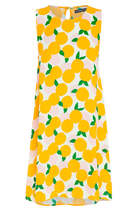 MANDARIN SLEEVELESS TINA DRESS