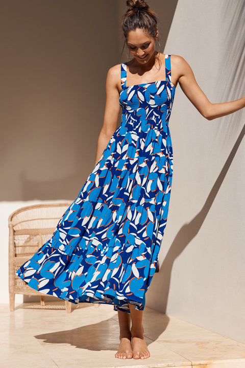 Savannah Dress In Sea Breeze
