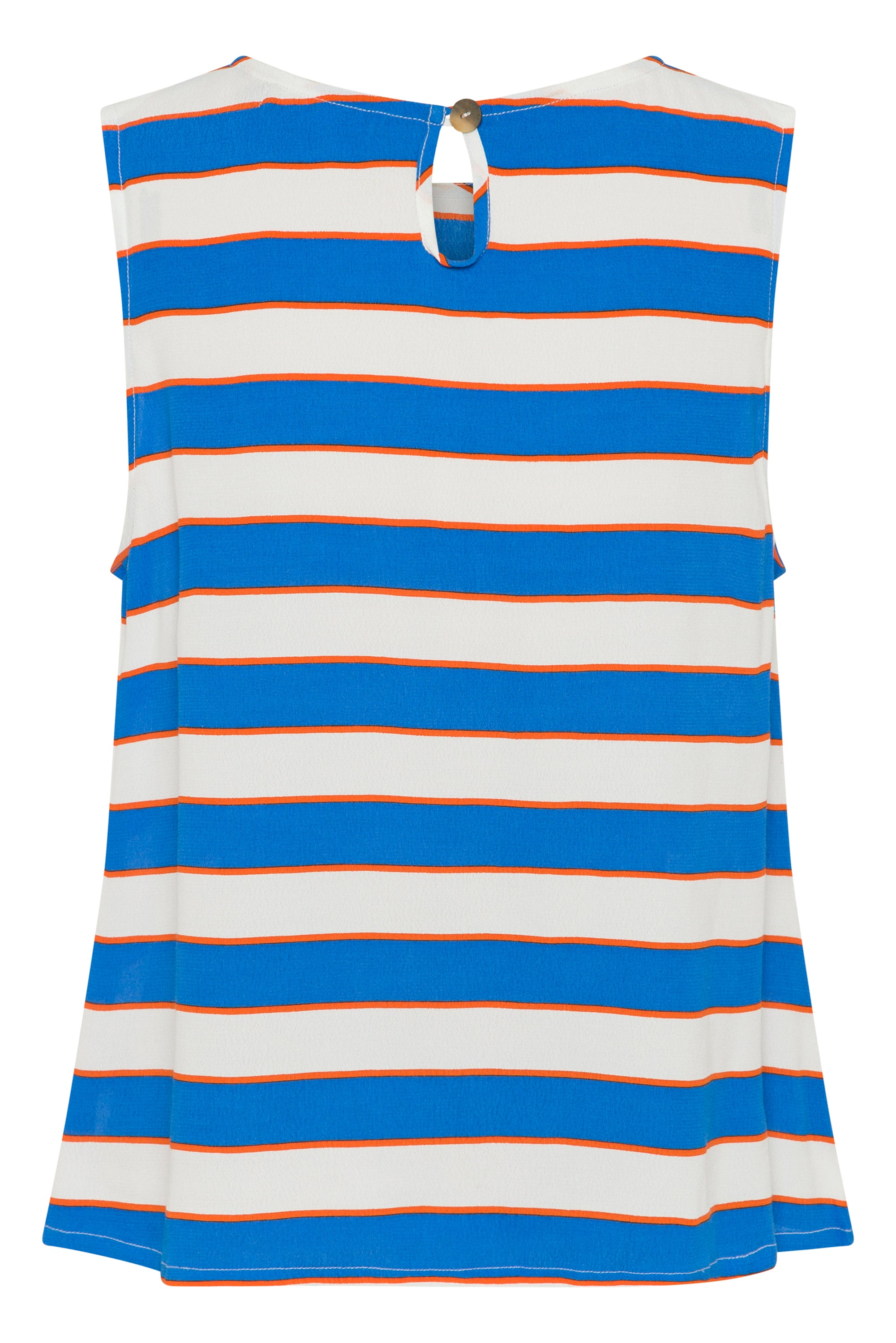 Sleeveless Tina Top In Aegean Stripe