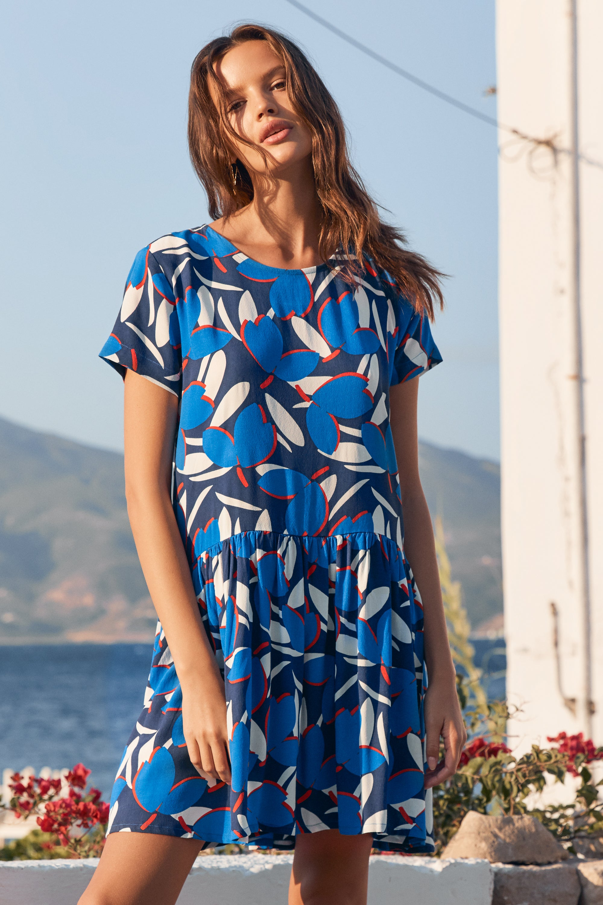 Summer Elsa Dress In Sea Breeze