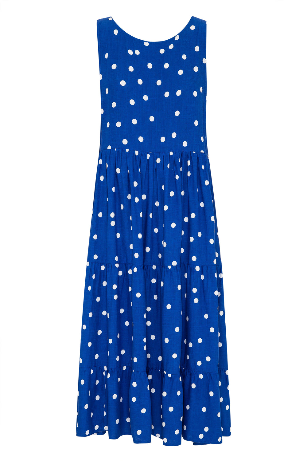Olivia Midi Dress In Cobalt Spot