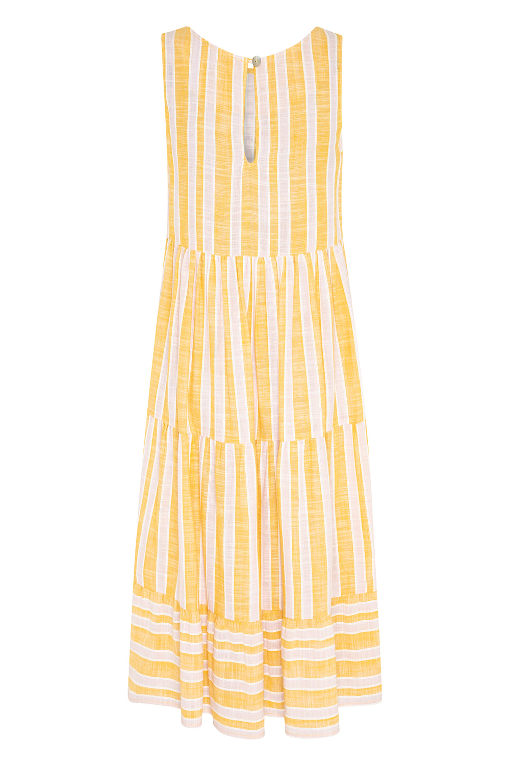 Olivia Midi Dress In Mustard Stripe