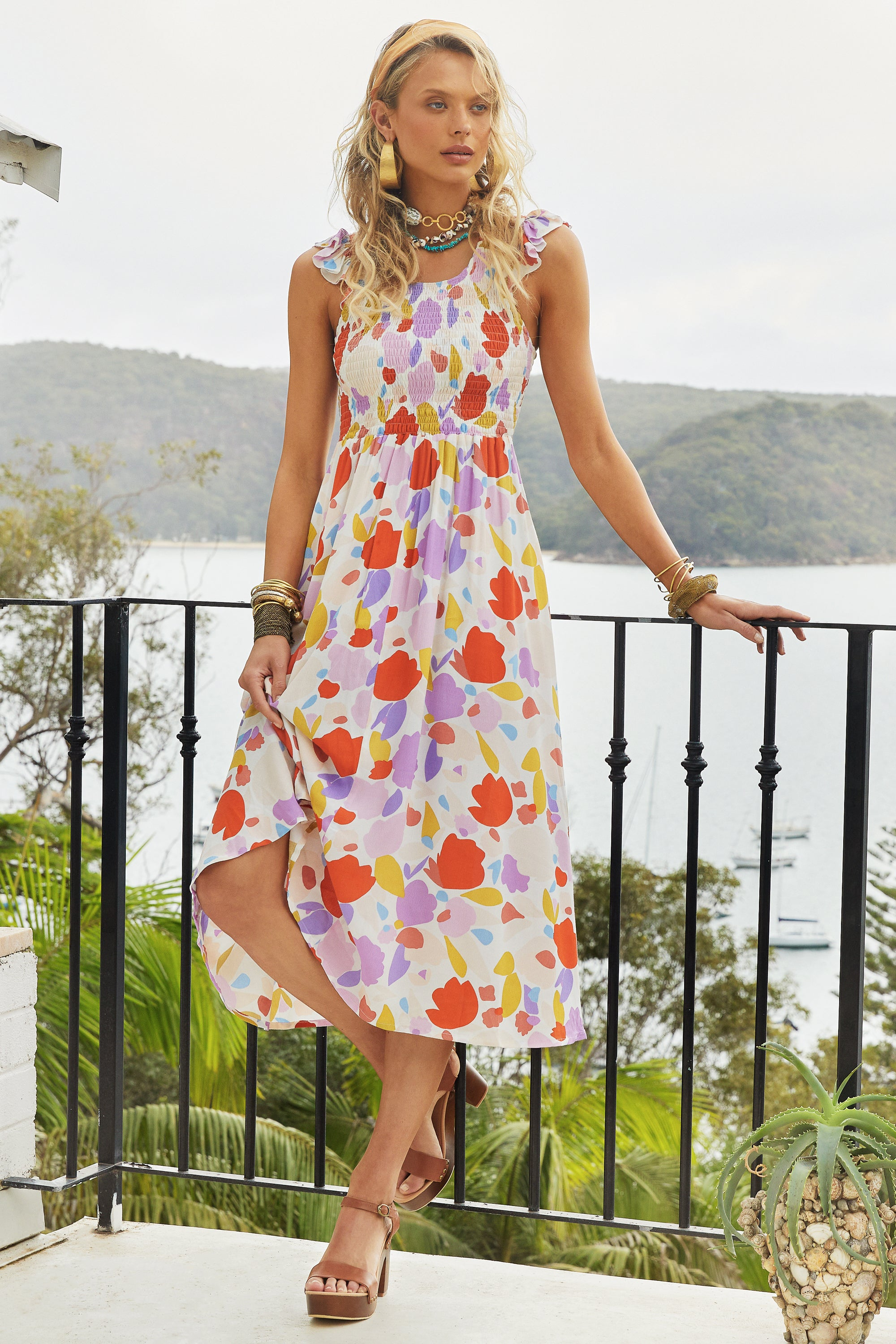 Abbie Dress In Peony