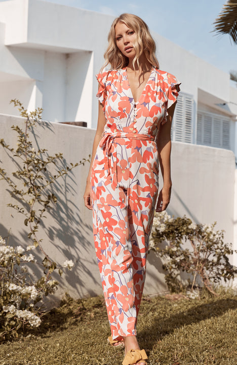 Audrey Jumpsuit In La Rose