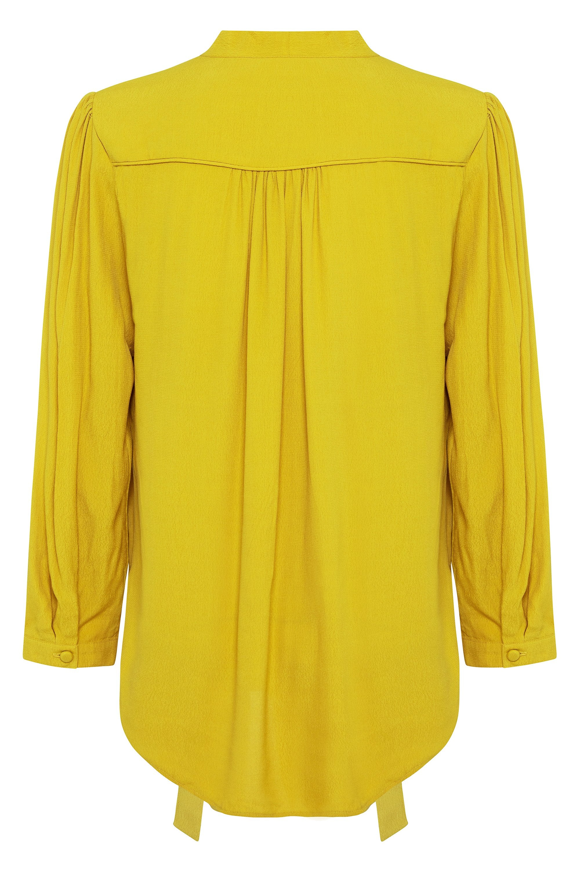 Isabella Blouse In Chartreuse