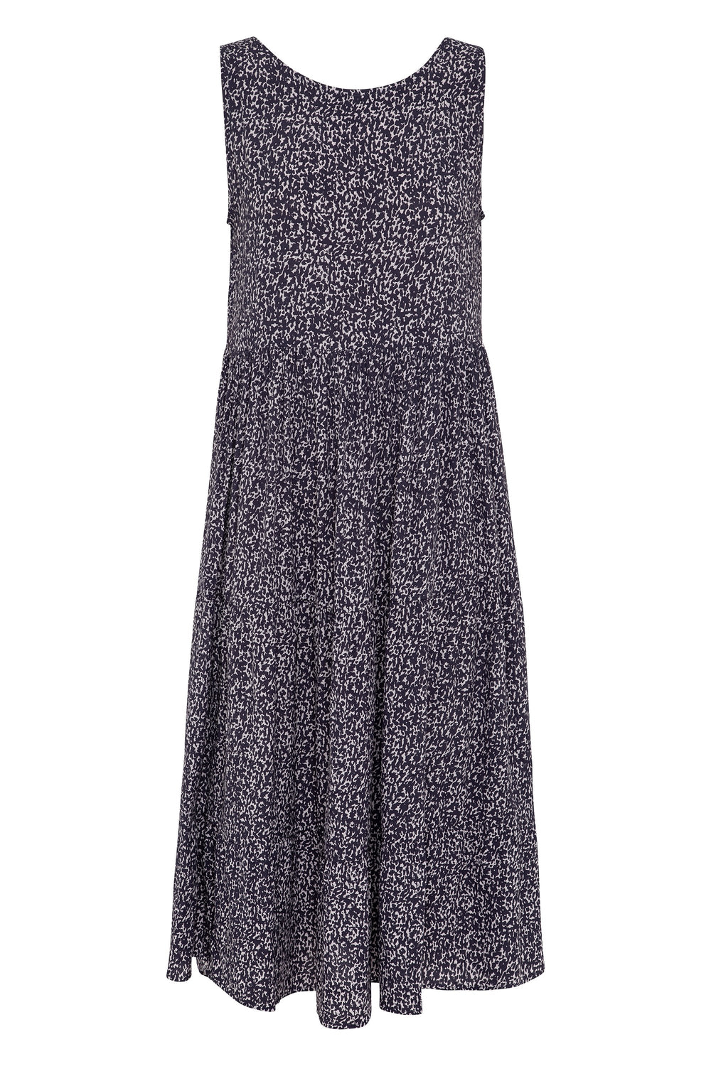 Olivia Midi Dress In Snow Leopard