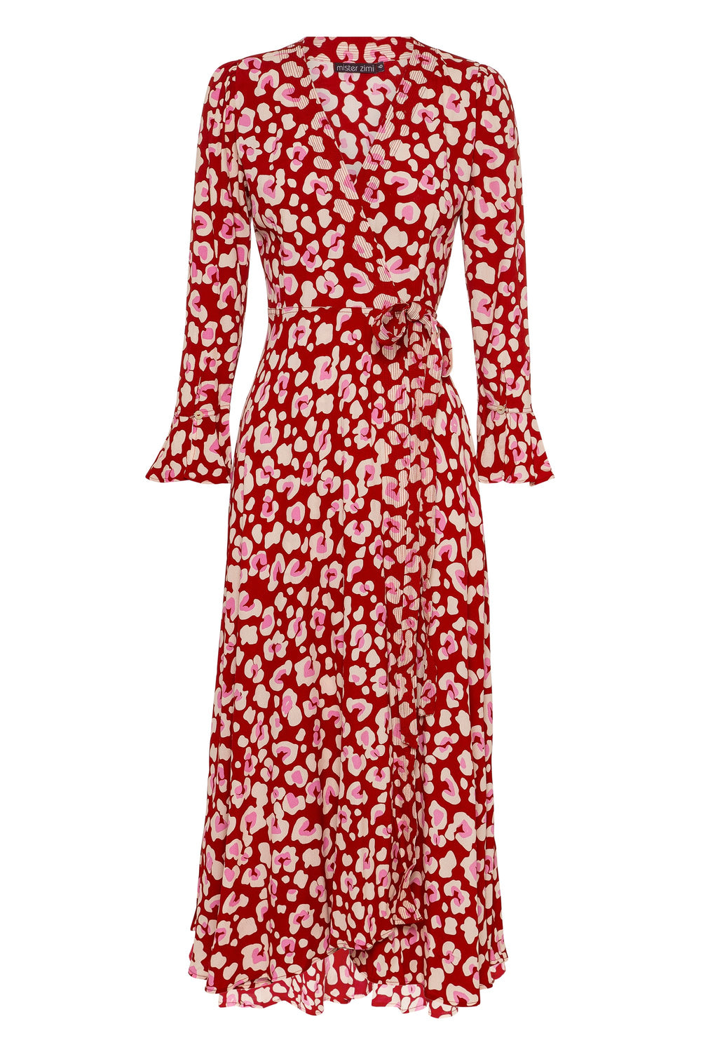 Tamara Dress In Red Leopard