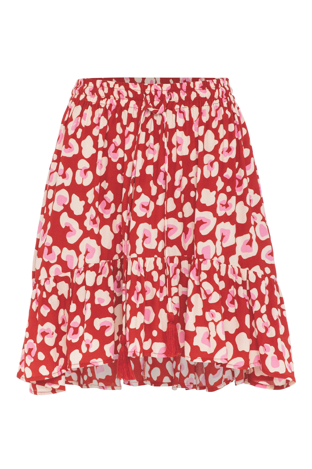 Velvie Skirt In Red Leopard
