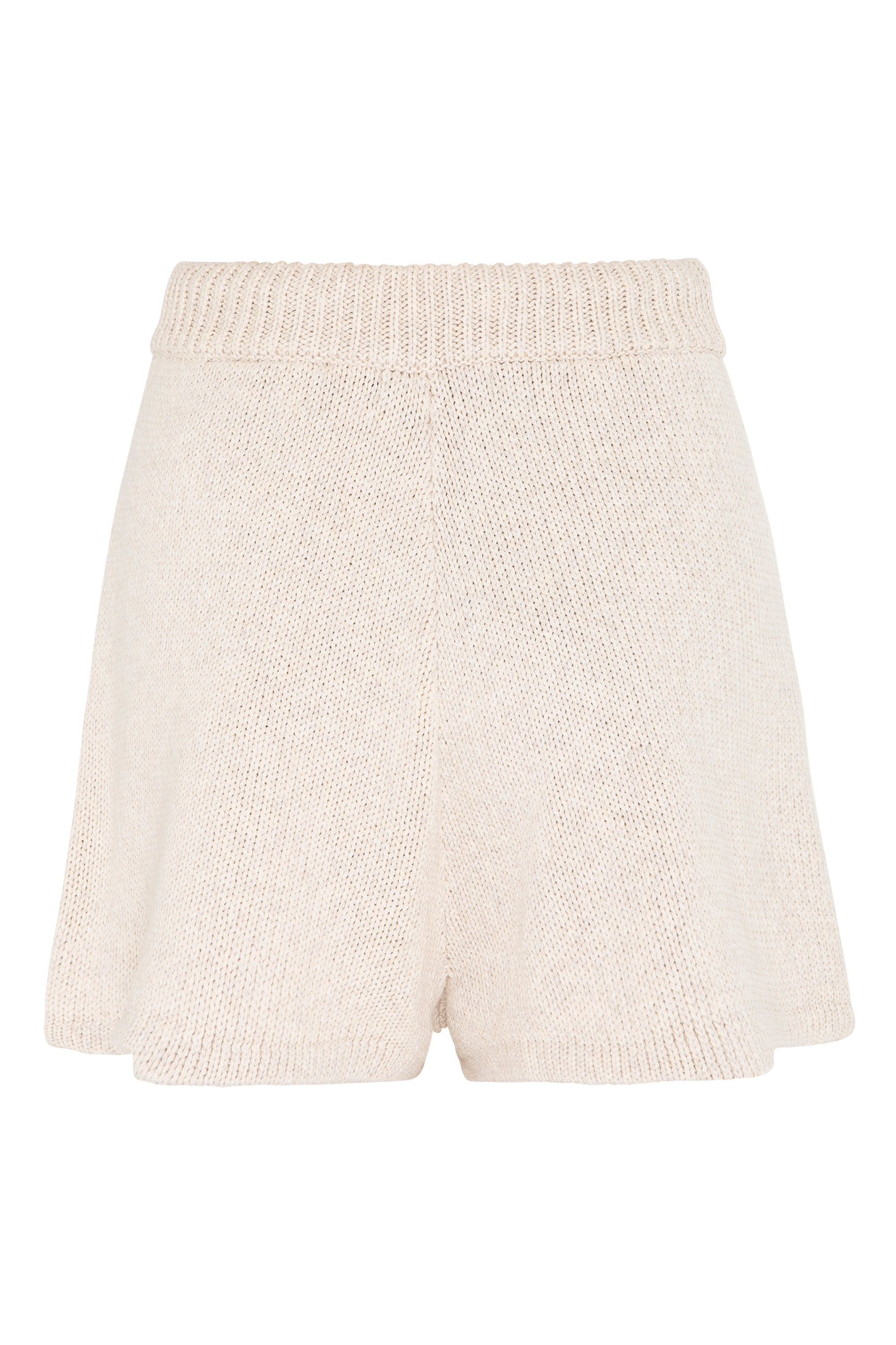 May Knit Shorts In Natural