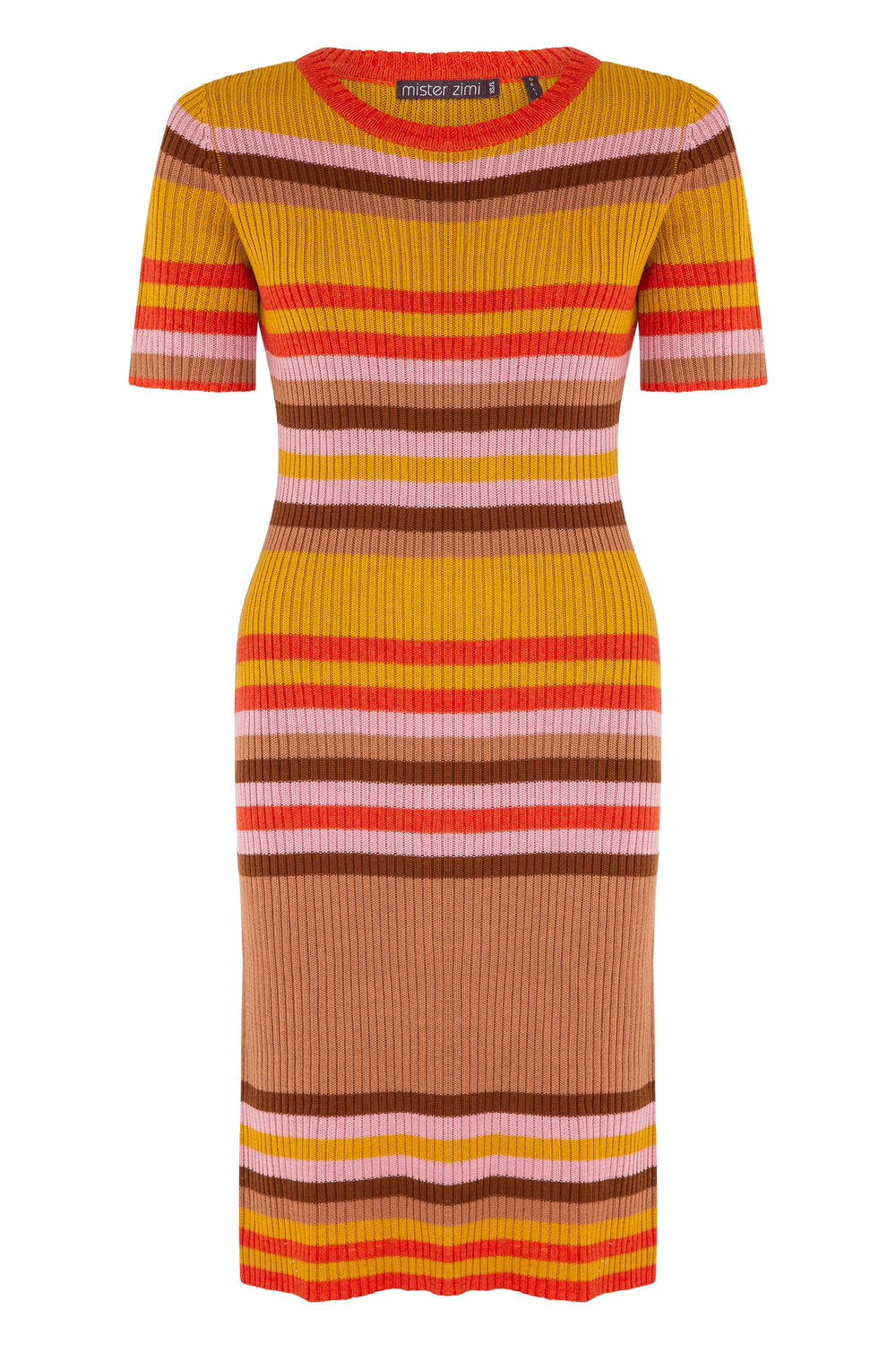 Rae Knit Midi Dress In Stripe