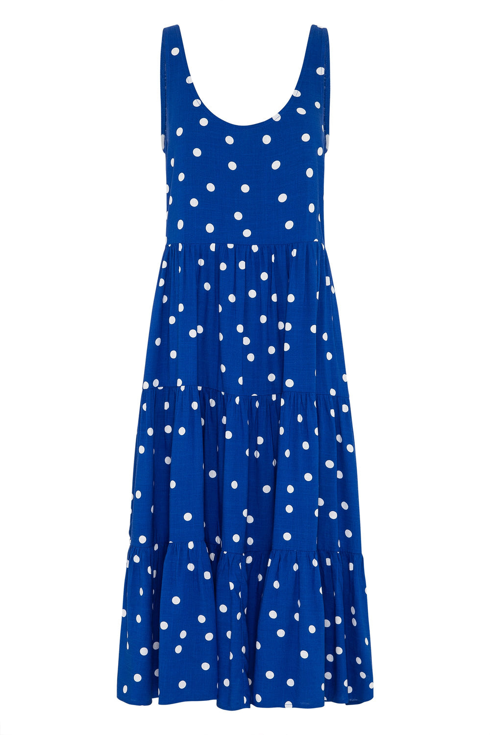 Winifred Midi Dress In Cobalt Spot