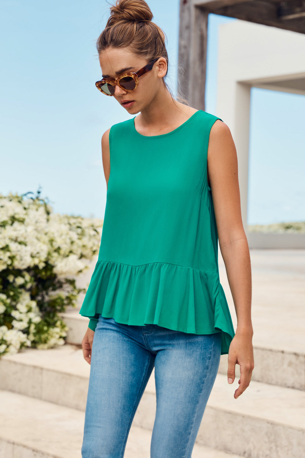Celeste Top In Jade